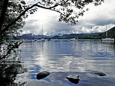 Greetings Card: Ullswater at Pooley Bridge Scene