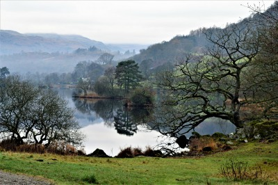 Greetings Card: Rydal Water 1Reflection
