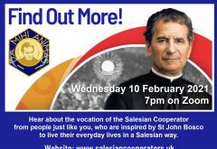 Find out more about the Salesian Cooperators