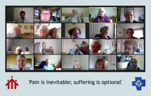 Online retreat explored how we face pain and suffering